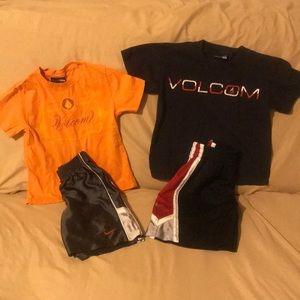 Nike Shorts/ Volcom Shirts Boys 5/6 Bundle